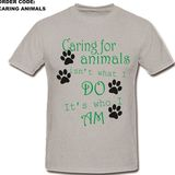 Caring Animals T-Shirt Option 2 Round Neck