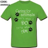 Caring Animals T-Shirt Option 1 Round Neck